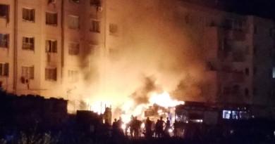 Carini incendio alle Case Popolari della Zona PEEP
