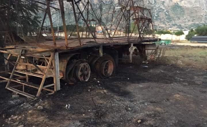 Cinisi - Incendio campo sportivo