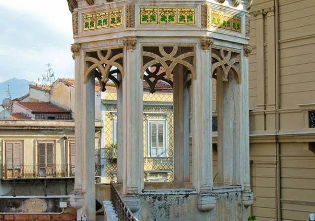 Palermo lavori in corso nel villino Favaloro per Le stanze d'Aragona
