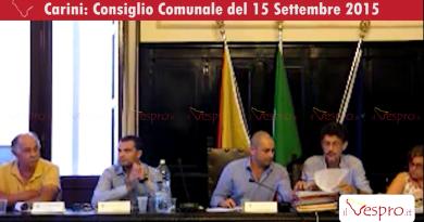 Consiglio Comunale di Carini - 15 Settembre 2015