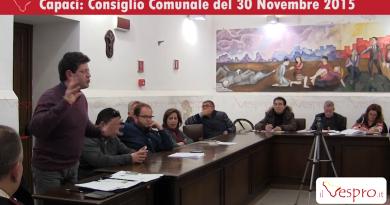 consiglio comunale capaci 30 novembre 2015