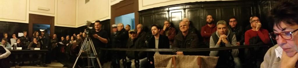 I commercianti presenti in Consiglio Comunale