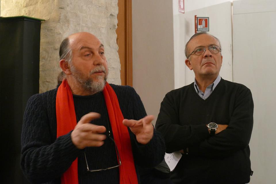 Pino Manzella e Giovanni Impastato a Ravenna. Foto Carlo Rondoni