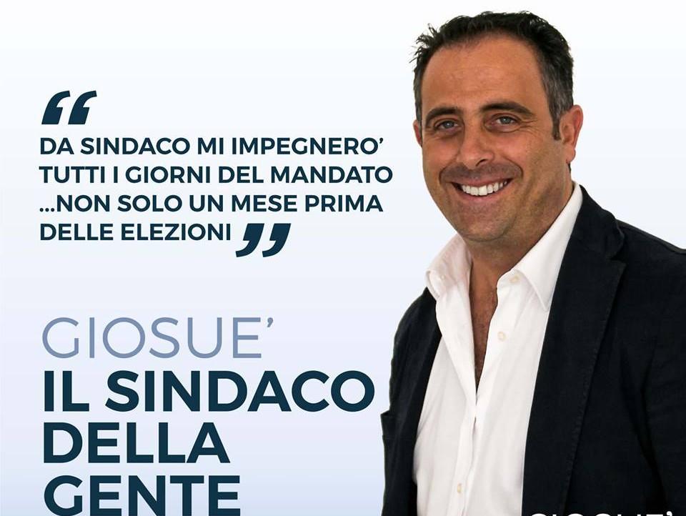 Il Sindaco di Terrasini, Giosué Maniaci, in un manifesto delle elezioni di giugno