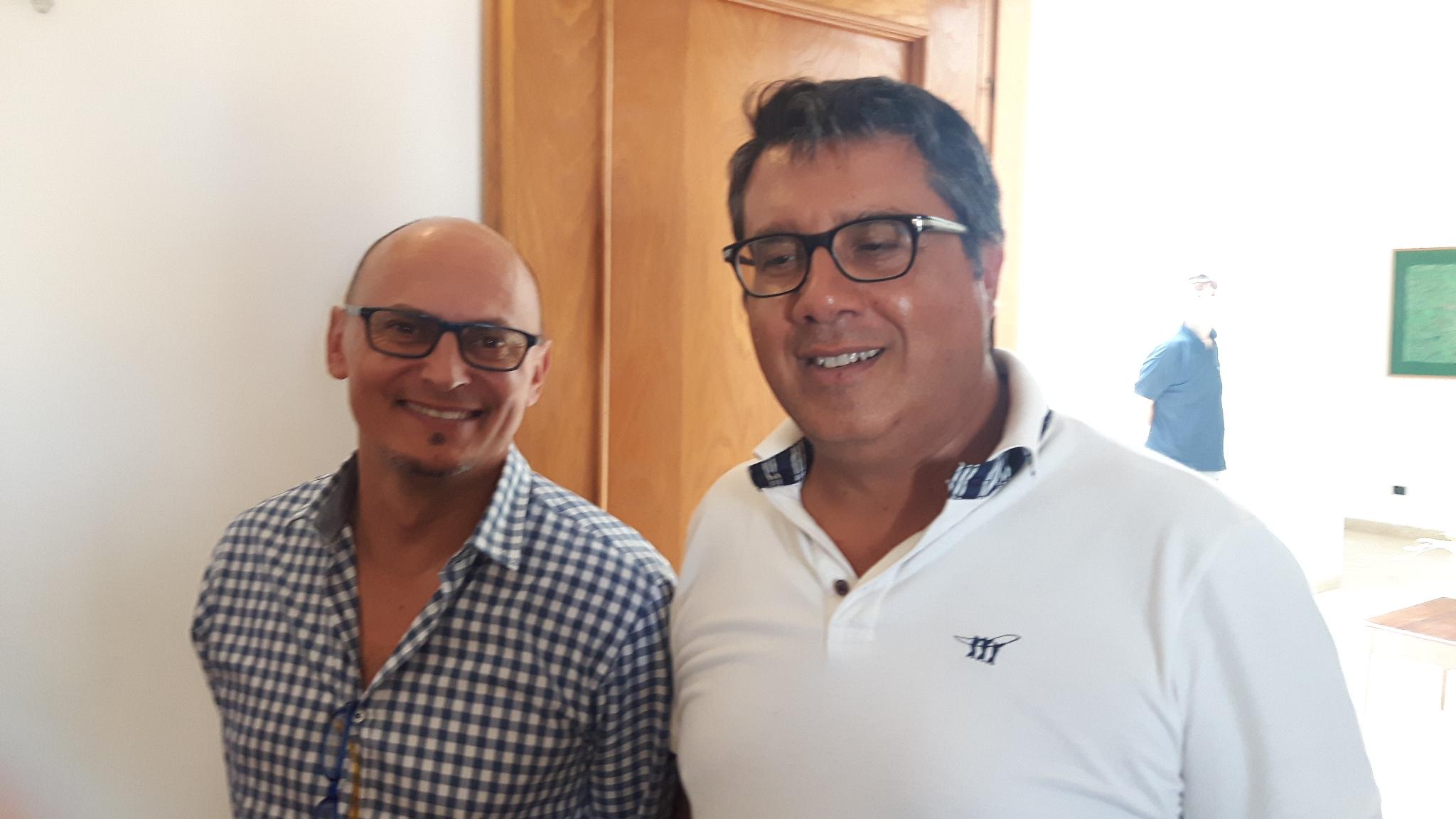 L'Ing. Fabio Tuttolomondo, probabile Rup dell'opera con il Segretario Cristofaro Ricupati