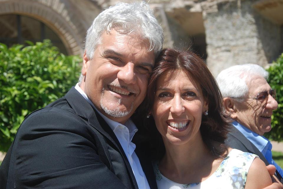 MArco Tripi con la moglie Alessandra Salerno