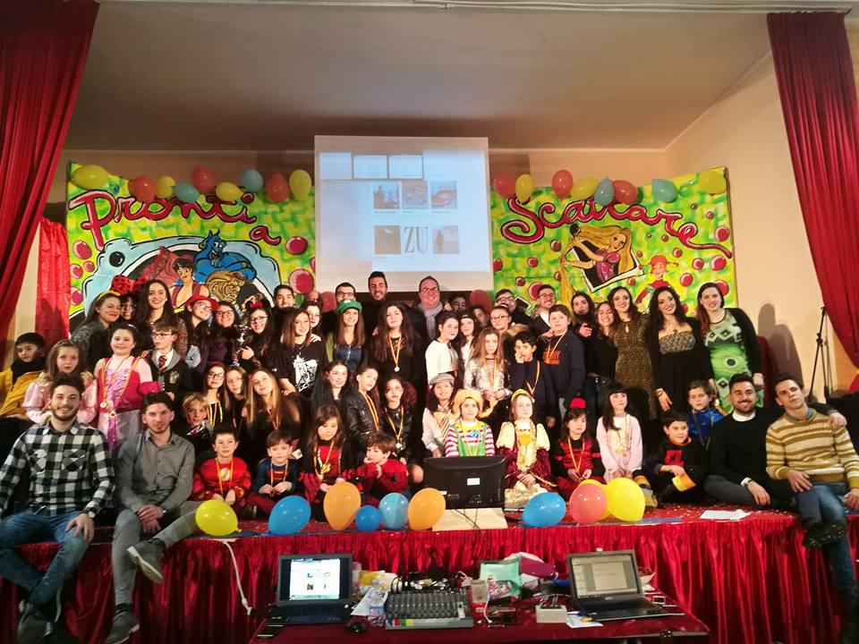 Il Gruppo Azione Cattolica Chiesa San Gioacchino in occasione del Carnevale dei bambini.
