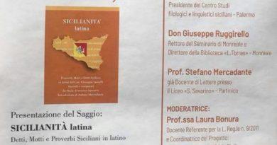 Partinico, oggi alla Cantina Borbonica presentazione del libro Sicilianità latina