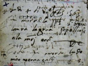 Atti di morte di Laura e Ludovico - Archivio Chiesa Madre Carini