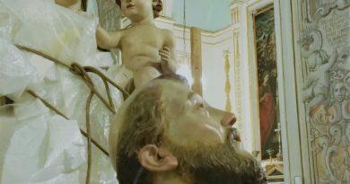 Carini, la Madonna del Rosario a restauro